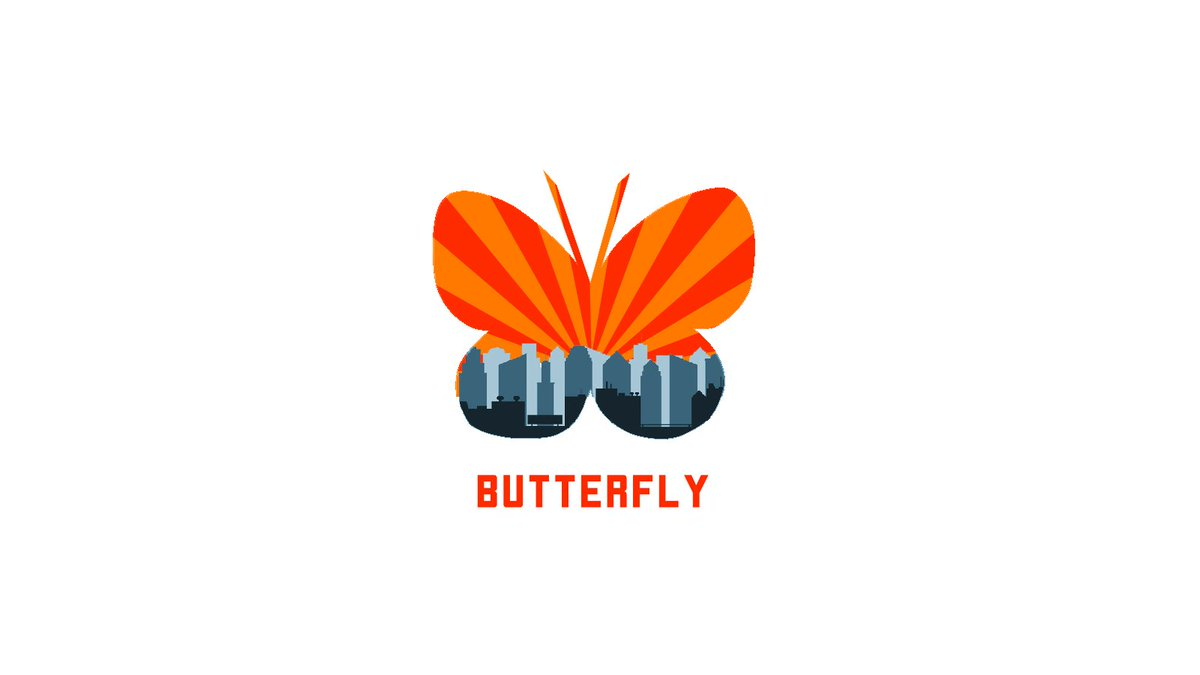 Butterfly Double Exposure Logo